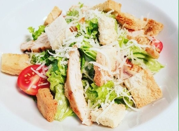 Куриное филе для салата цезарь