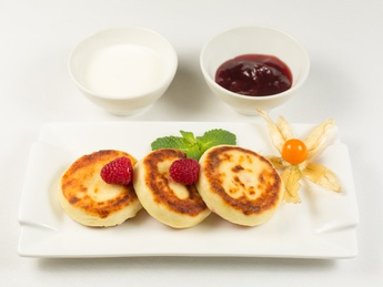 Cottage cheese pancakes with