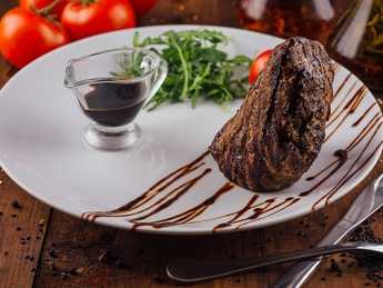 Beef steak with balsamic sauce