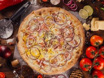 Пицца carbonara