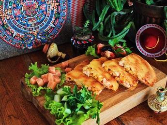 Quesadillas with salmon