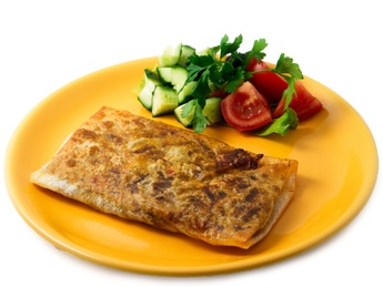 Chimichangas with meat & vegetables