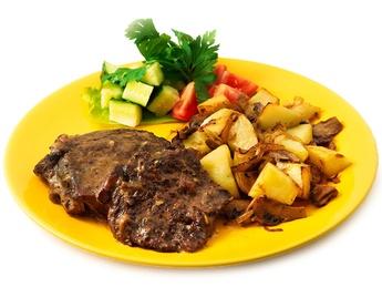 Baked lamb steak