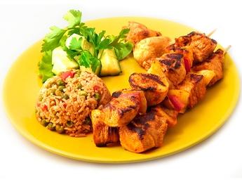 Mexican chicken shashlik