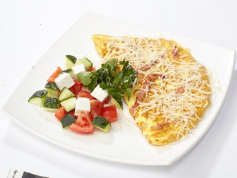 Omelette with ham