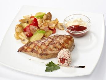 Steak din carne de pui