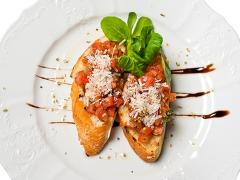 Bruchetta with tomatoes