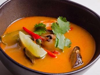 Том Ям суп с морепродуктами