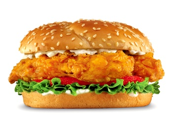 Big chicken burger