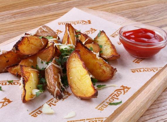 Cartofi Idaho cu usturoi