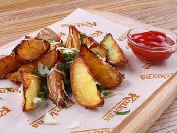Картофель айдахо с чесноком