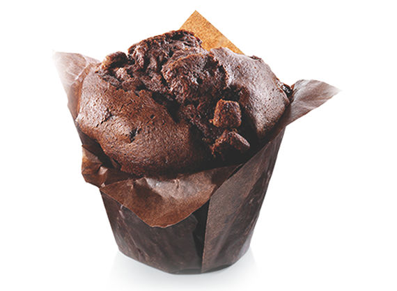 Cupcake with chocolate