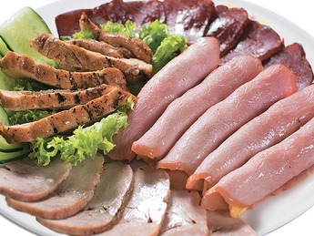 Plate with meat