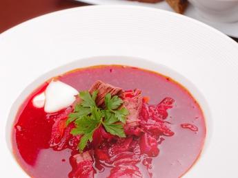 Borsch with veal