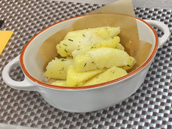 Boiled potatoes with rosemary