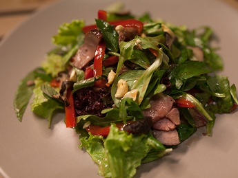 Asian salad with veal