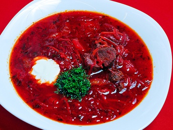 Borsch with veal