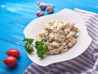 Olivie salad with chicken