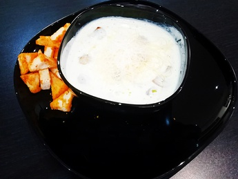 Mushrooms and chicken cream soup