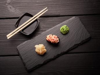 Gunkan with shrimp