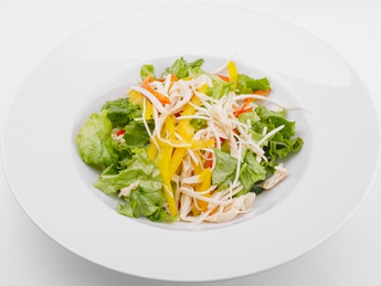Salad with celery and chicken fillet