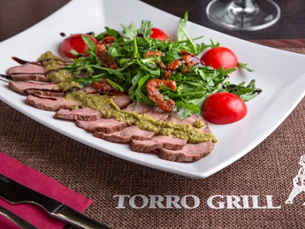 "Torro"" salad with roast beef and rocket"