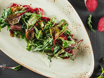 Red beet salad goat cheese