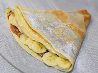 Clătită cu Nutella și banană