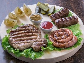 Assorted grilled meats