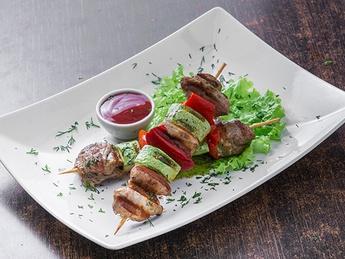 Shish kebab pork