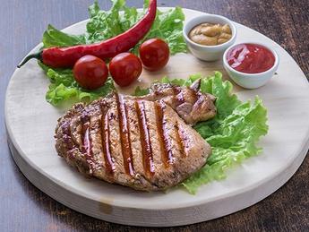 Grilled pork bone