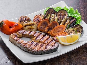 Steak from salmon