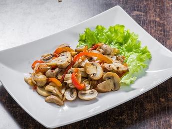 Stewed mushrooms in sauce
