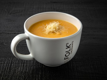 Cream soup with chicken