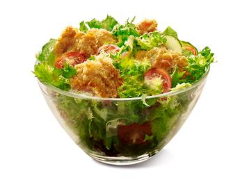 KFC Fillet Bites salad