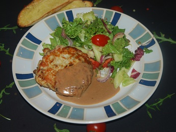 Turkey cutlet with salad