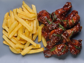Chicken wings with BBQ sauce