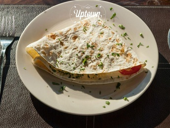 Wrap with cheese and tomatoe