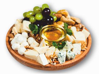 Assorted cheese platter