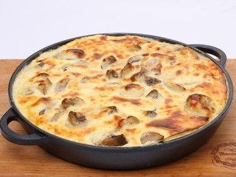 Pig's Tongue Baked with Cheese