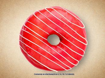 Pозовый пончик