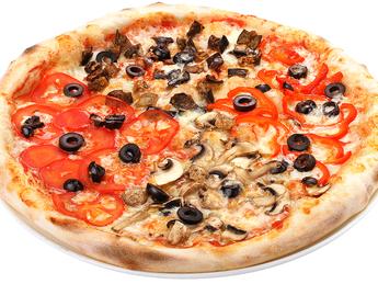 Pizza large Quattro vegetariano