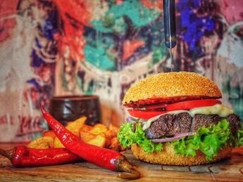 Lamb Fajitas burger