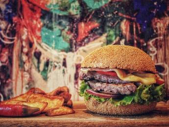 Beef Fajitas burger