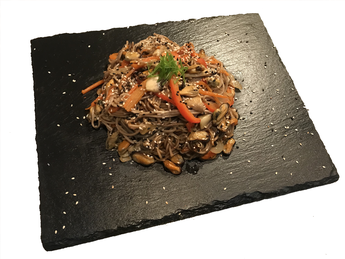 Soba with mussels