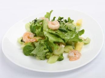 Salad Pineapple shrimp