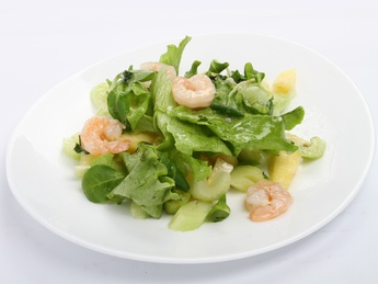 Salad Pineapple shrimp