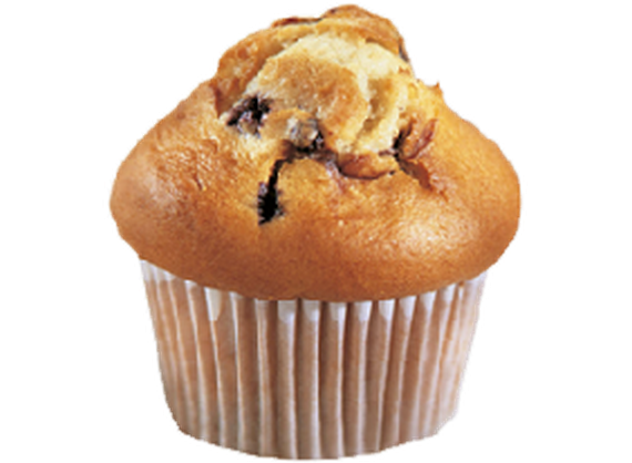 Cupcake with black currants