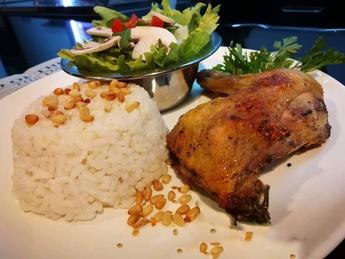 Арабский рис с запеченной курицей