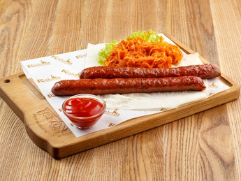 Grilled beef sausages